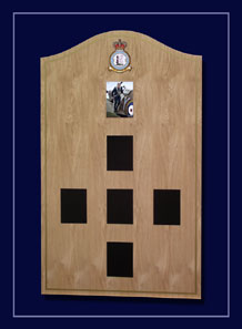 Magnetic photo portrait display of the RAF Cosford Officer Command Structure.