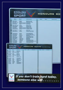 This honour board is made from 3mm thick aluminium composite material supplied to the EIS in Birmingham