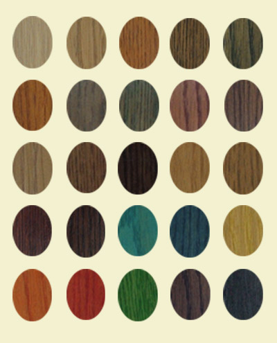 Colour guide to woodstains
