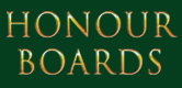 Honour Boards title shown as incised lettering into an oak veneer and finished in gold leaf